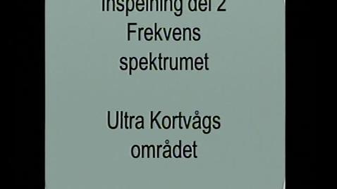 Miniatyr för inlägg Frekvensspektrumet Del 2 A. Lars Martinsson.