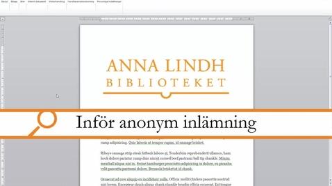 Miniatyr för inlägg Word - Anonymisera ett dokument