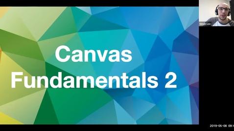 Miniatyr för inlägg Canvas Fundamentals Training Part II