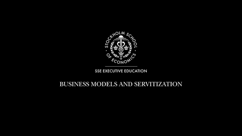 Thumbnail for entry Servitization Business Model