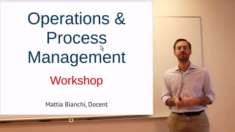 Thumbnail for entry RAMP Operations and Process Management: Video 1 - On the goals and logic of the workshop