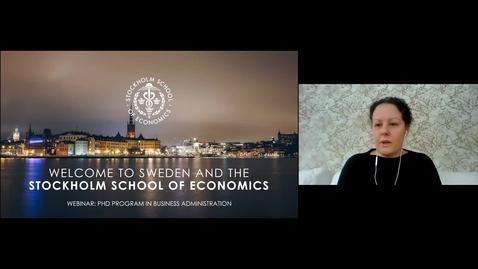 Thumbnail for entry Webinar: PhD Program in Business Administration