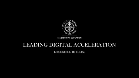 Thumbnail for entry Introduction to Leading Digital Acceleration