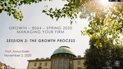 Thumbnail for entry Course 8064 - Session 2 - The Growth Process