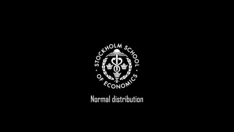Thumbnail for entry Normal distribution