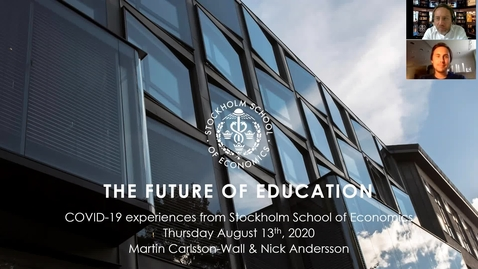 Thumbnail for entry Sweden Through the Crisis - The Future of Education