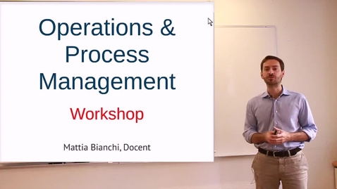 Thumbnail for entry RAMP Operations and Process Management: Video 3 - On the simulation – Customer needs and revenues