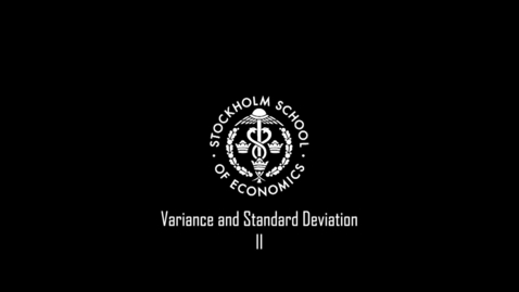 Thumbnail for entry Variance and Standard Deviation II