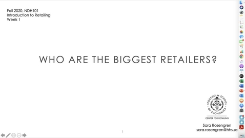 Thumbnail for entry Week 1. Who are the biggest retailers?