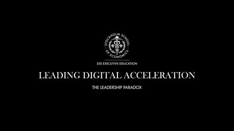 Thumbnail for entry The Leadership Paradox