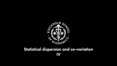 Thumbnail for entry Spread measurements and co-variation IV - Covarians and correlation