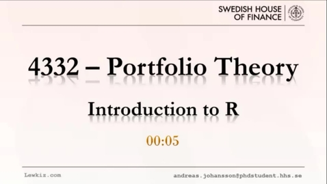 Thumbnail for entry Introduction to R