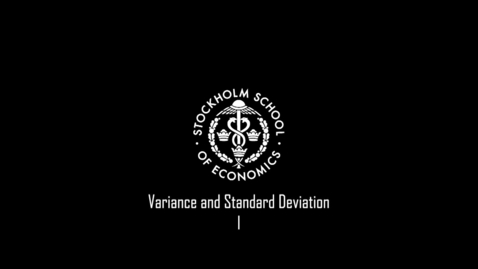 Thumbnail for entry Variance and Standard Deviation I