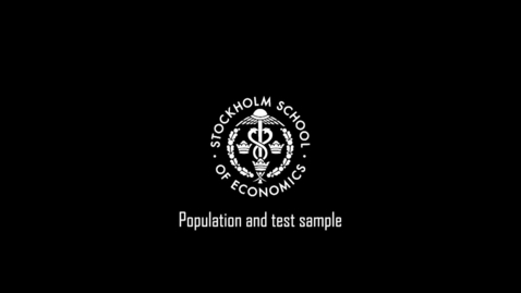 Thumbnail for entry Population and test sample