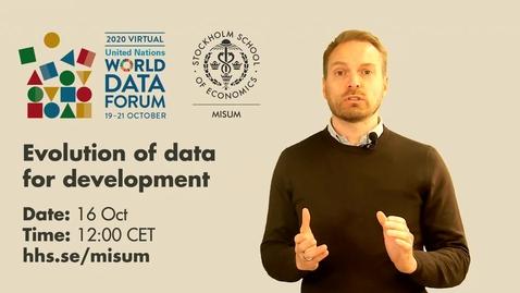 Thumbnail for entry Evolution of data for development - Invitation