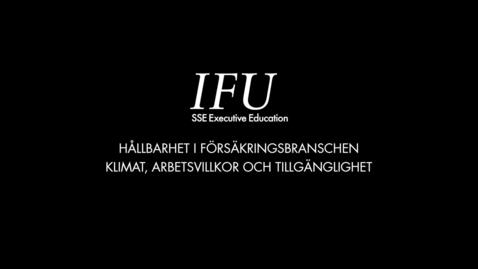 Thumbnail for entry IFU Karin Stenmar - Klimat, arbetsvillkor och tillgänglighet