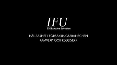 Thumbnail for entry IFU Karin Stenmar - Ramverk och Regelverk