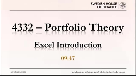 Thumbnail for entry 4332 Excel tutorial