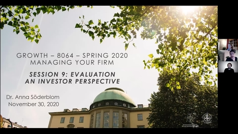 Thumbnail for entry Course 8064 - Session 9 - Evaluation: An investor perspective