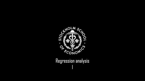 Thumbnail for entry Regression analysis I
