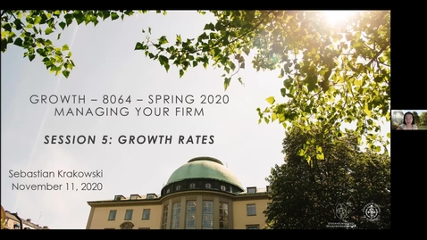 Thumbnail for entry Course 8064 - Session 5 - Growth Rates