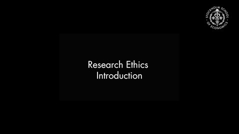 Thumbnail for entry Research Ethics – Introduction