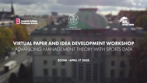 Thumbnail for entry Virtual Academic Workshop April 17 2020