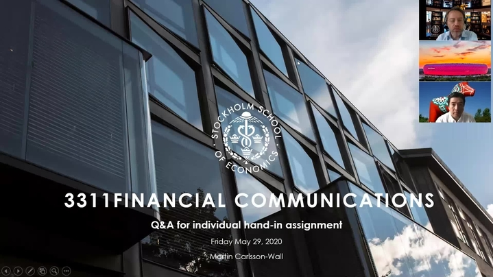 Thumbnail for channel 3311 FINANCIAL COMMUNICATIONS