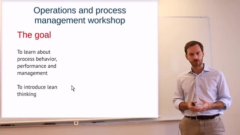 Thumbnail for entry RAMP Operations and Process Management: Video 2 - On the structure of the workshop