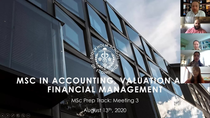 Thumbnail for channel MSc in Accounting Valuation and Financial Management
