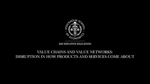 Thumbnail for entry What is value chains and value networks