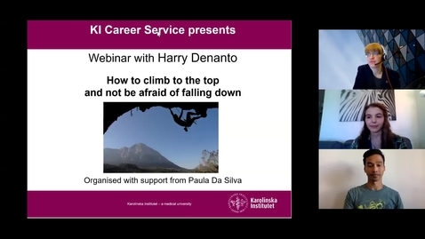 Thumbnail for entry Webinar -How to climb to the top and not be afraid of falling down