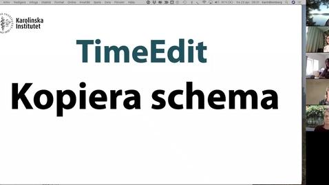 Thumbnail for entry TimeEdit kopiering av schema