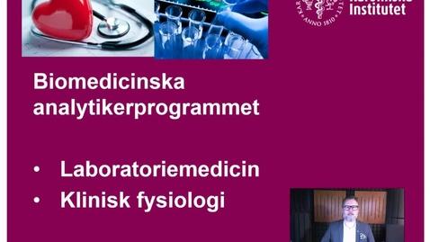 Thumbnail for entry Introduktion till studenter antagna till Biomedicinska analytikerprogrammet