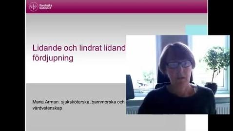 Thumbnail for entry Lidande och lindrat lidande - fördjupning (med undertext)