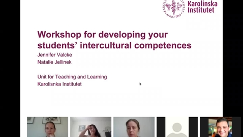 Thumbnail for entry Workshop for developing your students' intercultural competences