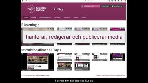 Thumbnail for entry Hantera My Media(v2)