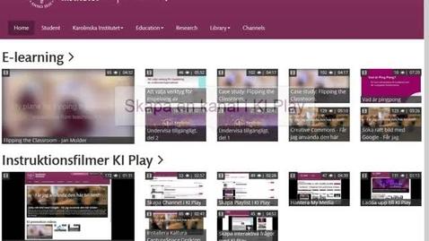 Thumbnail for entry Skapa en kanal på KI Play