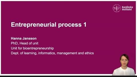 Thumbnail for entry Entrepreneurial process 1