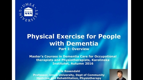Thumbnail for entry Physical exercise for people with dementia