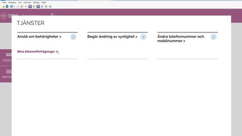 Thumbnail for entry Mina åtkomstförfrågningar- status över nya behörigheter