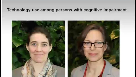 Thumbnail for entry Technology use among persons with cognitive impairment