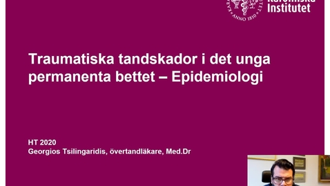 Thumbnail for entry Traumaföreläsning T7 Epidemiologi