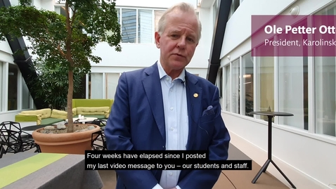 Thumbnail for entry Message from KI President Ole Petter Ottersen, to students and staff - 2020-04-16