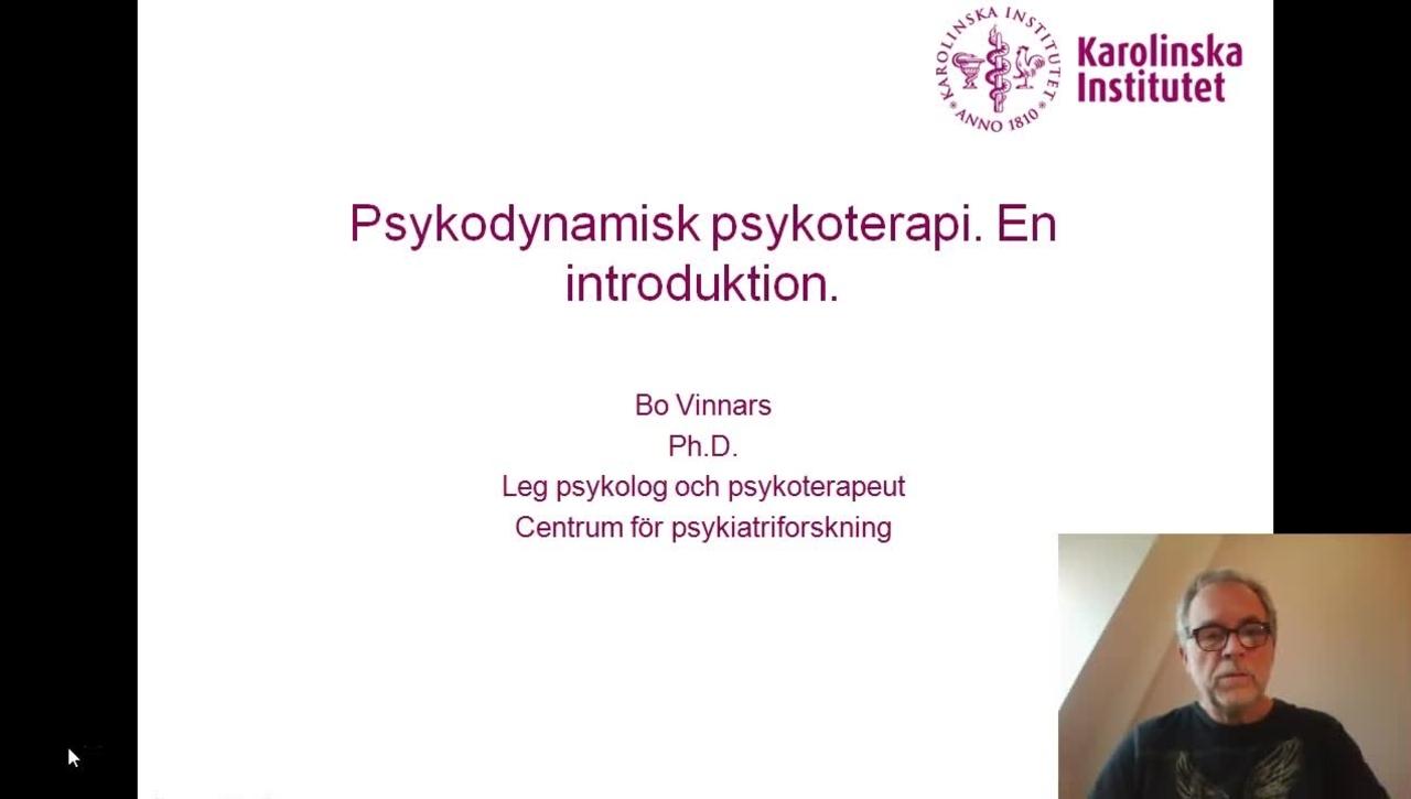 PSYKODYNAMISK PSYKOTERAPI_EN INTRODUKTION_BO VINNARS