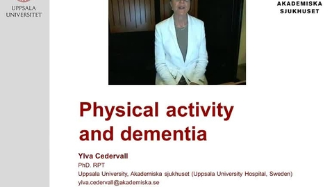 Thumbnail for entry Physical activity and dementia