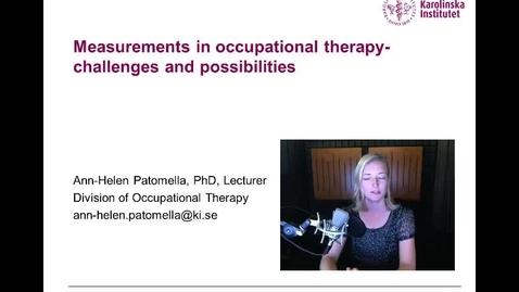 Thumbnail for entry Patomella Mesurement theory