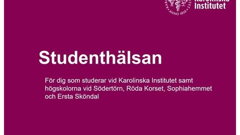 Thumbnail for entry Information från studenthälsan_Biomedicinska analytikerprogrammet