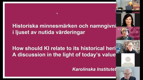 Thumbnail for entry Etikseminarium: Historiska minnesmärken och namngivning i ljuset av nutida värderingar (2 feb 2021)