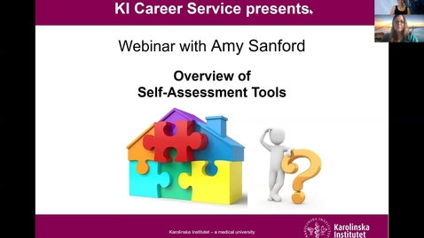Thumbnail for entry Overview of Self-Assessment Tools